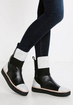 f527c96617a Shoeshibar DRACO - Stövletter - black/grey - Zalando.se Draco, Chelsea Boots