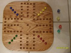 Marble Game With Wooden Board Vintage Wahoo Game Board  16 Marbles  Creative Ideas  Rare