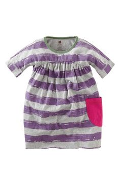 Tea Collection 'Brushstroke' Stripe Dress (Baby Girls) available at #Nordstrom