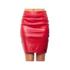 Crooks and Castles The Scorch Skirt in True Red ($65) via Polyvore