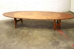 Lane surfboard coffee table by HermansSteelGarage on Etsy, $525.00 Surfboard Coffee Table, Lane Furniture, Maple Burl, Big Leaves, Photo Blog, Mid-century Modern, My Photos, Mid Century, Dining Table