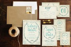 Create a themeful simple wedding celebration with the package of rustic wreath wedding package; a complete pack of #wedding #invitation, save the date, thank you card, RSVP, table numbers, escort #card and menu card.