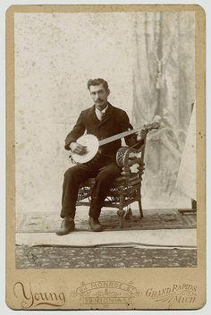 Banjo Player by WonderfullyStrange, via Flickr