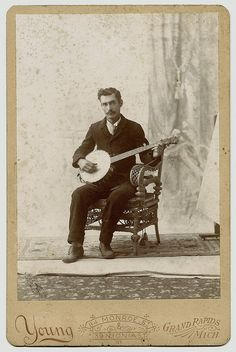 Banjo Player by WonderfullyStrange, via Flickr