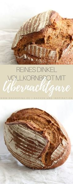 Spelled wholemeal bread recipe with overnight cooking Bäckerina Dinkel Vollkornbrot Rezept mit Übernachtgare Brunch Recipes, Baby Food Recipes, Baking Recipes, Snack Recipes, Wholemeal Bread Recipe, Kenwood Cooking, Homemade Baby Foods, Pizza Hut, Pampered Chef