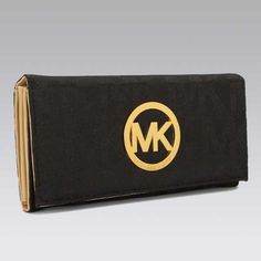Authentic MICHAEL Michael Kors Continental Logo Black Wallet on sale at Michael Kors outlet online shop with fast delivery and free shipping...