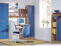 Študentská izba Candy Corner Desk, Entryway, Cabinet, Storage, Furniture, Home Decor, Corner Table, Entrance, Clothes Stand