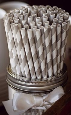 Mason Jar Straw Display