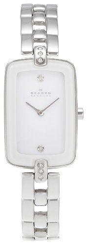 Skagen Designer Series Womens Two-Hand Stainless Steel Watch - White Skw2070 Skagen,http://www.amazon.com/dp/B00BM1I56W/ref=cm_sw_r_pi_dp_54t2sb0MAXXRD3JH