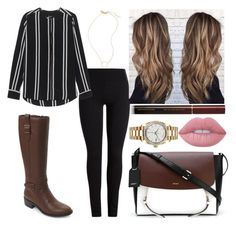"""""""Classic"""" by emmasorrell on Polyvore featuring Jadicted, Cole Haan, Madewell, DKNY, Rolex, Lime Crime and Kevyn Aucoin"""