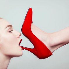 Tyler Shields   The Red Shoe  #tylershields #redshoe #shoes #lipstick  Info@guyhepner.com