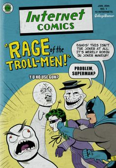 """Batman Vs. The Internet"" by Caldwell Tanner and Kevin Corrigan - [click through for more]"