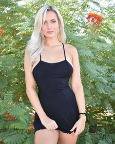 Beauté Blonde, Blonde Beauty, Tight Dresses, Sexy Dresses, Short Dresses, Sexy Outfits, Golfer Paige Spiranac, Blondes Sexy, Looks Pinterest