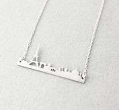 Chic Paris City Skyline Necklace - Gold & Silver -Pray for Paris
