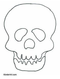 halloween skull mask template