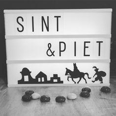 lightbox, Sinterklaas, zwart-wit,silhouet, sint&piet, diy,
