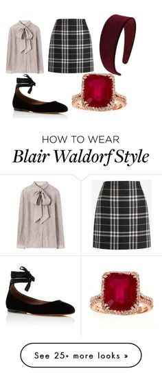 """Blair Waldorf Season 1"" by coleebug26 on Polyvore featuring J.Crew, Tory Burch, Tabitha Simmons and Miss Selfridge"