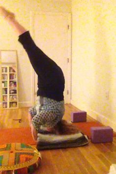 into headstand