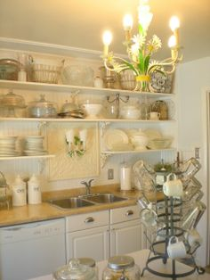 DIY: French Farm Style Kitchen Renovation by Remodelaholic #farmhouse