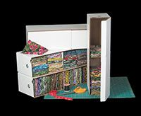 Stack and store 100 fat quarters in this handy SAR organizer!