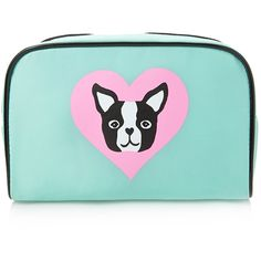 FOREVER 21 Puppy Print Cosmetic Bag found on Polyvore