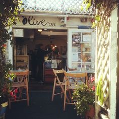 Olive Cafe on Mission Beach, the food, the setting, visiting our son