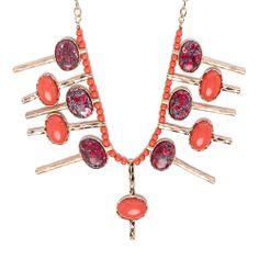 I love the Geranium Stone Spike Necklace from LittleBlackBag
