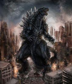 Incredible Godzilla 2014 Concept Art