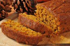 This gluten free pumpkin bread recipe is soft, sweet and super satisfying. The f… This gluten free pumpkin bread recipe is soft, sweet and super satisfying. The fluffy texture melts in your mouth and has a rich nutty and pumpkin flavor Paleo Dessert, Dessert Sans Gluten, Gluten Free Desserts, Gluten Free Recipes, Celiac Recipes, Easy Recipes, Fast Metabolism Recipes, Fast Metabolism Diet, Gluten Free Pumpkin Bread