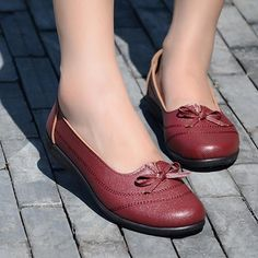 Bowknot Butterflyknot Stripe Round Toe Soft Sole Slip On Flat Shoes Suede Loafers, Loafer Shoes, Flat Boots, Shoe Boots, Top Shoes, Me Too Shoes, Girls Sandals, Wholesale Shoes, Loafers