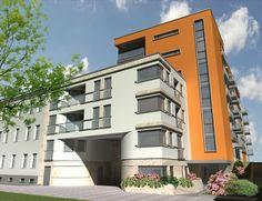 Elewacja budynku przy ul. Strzeleckiej w Poznaniu. Nowa inwestycja, mieszkania na sprzedaż. #mieszkanie #Poznań #nieruchomości #sprzedaż #inwestycja #moje #architektura
