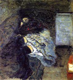 Marthe on a Divan / Pierre Bonnard - circa 1900