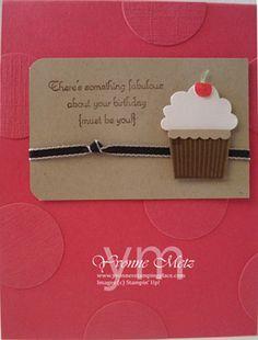Happy Birthday Cupcake Card by KraftsbyYvonne on Etsy, $4.50