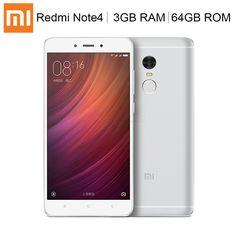 """Xiaomi Redmi Note 4 4G Smartphone Deca-core 3GB+64GB 5.5"""" Dual SIM Fingerprint"""