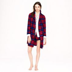 can't have enough cozy warm things! Robe in bright cerise plaid flannel from j.crew