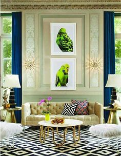 Contemporary interiors from Elle Decor India | India's Best Design Magazines via Paint + Pattern