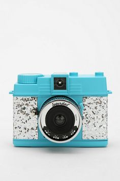 Lomography Glitter Diana Mini Camera #urbanoutfitters  I have no idea how the pictures look, but this is the cutest thing I've seen.