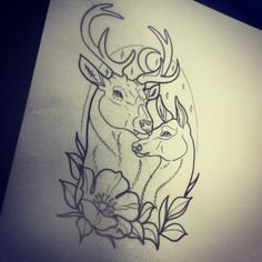 Drawings I Like 56 Trendy tattoo traditional flash sketches ink Doe Tattoo, Stag Tattoo, Tattoo Outline, Dream Tattoos, Body Art Tattoos, Tatoos, Cervo Tattoo, Neo Traditional Tattoo, Traditional Flash