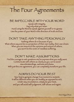 The Four Agreements - one of the best books I've read