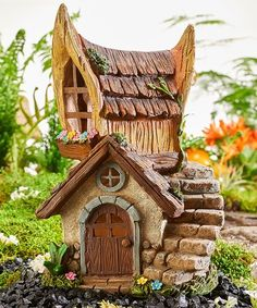 Loving this Solar Lighted House Figurine on #zulily! #zulilyfinds