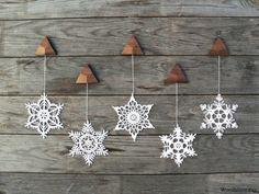 Ihr gemütliches Zuhause mit diesem warmen handgemachte Dekoration dekorieren - einige Winter Eleganz im Inneren zu bringen!  Dieser Urlaub