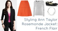 Ask Allie: Styling a Suit into Separates featuring @Ann Taylor