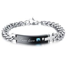 adb79ecb59 4.2   Men s titanium Steel Couple Bracelet