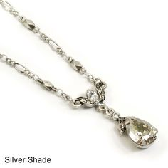 Sweet Romance N1170 Crystal Teardrop Pear Necklace