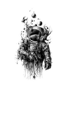 (notitle) - I need more space - Tattoo Space Drawings, Space Artwork, Art Drawings, Body Art Tattoos, Small Tattoos, Tattoos For Guys, Tattoos Masculinas, Tattos, Tattoo Sleeve Designs