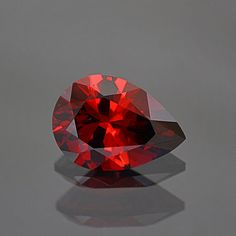 Rich Red Orange Umbalite Garnet Gemstone from by KosnarGemCo
