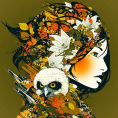 "DJ Okawari CD cover by MIRUMAgraph: ""a cup of coffee"""