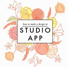 How to make a design in Studio App. The full tutorial.