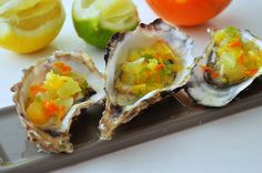 Stridii cu trei citrice/Oysters with three citrus/Huîtres avec trois agrumes