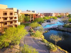 Chandler, AZ - Sheraton Wild Horse Pass Resort & Spa. At sunset, scan the horizon for wild horses silhouetted against the mountains. Owned by the Gila River tribe and nestled on their reservation, this 500-room resort is a stunning alchemy of luxury and Native American traditions. The spa offers Bahn (Blue Coyote) wraps and a Pima Medicine massage. The Kai Restaurant serves indigenous Southwestern cuisine. Two golf courses, an equestrian center and tennis courts round out the appeal.